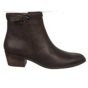 Dr. Scholl's Mindy Buckle Leather Ankle Boot. 7